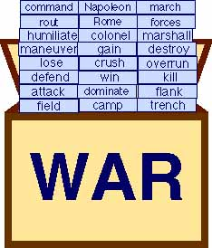 box of war words